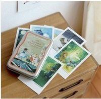 Wholesale Postcard Alice - Free Shipping!Indigo illust mini tin Alice Daddy Long Legs Pinocchio card  postcard 40 sheets set Christmas Card Greeting Card