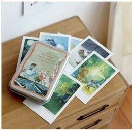 Wholesale Wholesale Tin Sheets - Free Shipping!Indigo illust mini tin Alice Daddy Long Legs Pinocchio card  postcard 40 sheets set Christmas Card Greeting Card