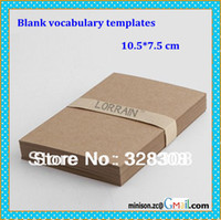 blank card template - Blank vocabulary templates Kraft paper color and White flash paper cards for school