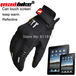 Wholesale Bike Racing Gear - Wholesale-Free shipping MAD-BIKER CITY Motorcycle Gloves Bike Bicycle Full Finger Protective Gear Racing Gloves Racing Gloves