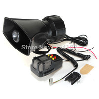 Wholesale Loud Siren Alarm - Motorcycle Car Auto Vehicle Van Truck 5 Sound Tone Loud Horn Siren Police Firemen Ambulance Warning Alarm Loudspeaker