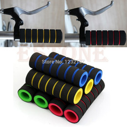 Wholesale Wholesale Bicycle Grips - L1091 Pair Bike Racing Bicycle Motorcycle Decor Handle Bar Foam Sponge Grip Cover Nonslip