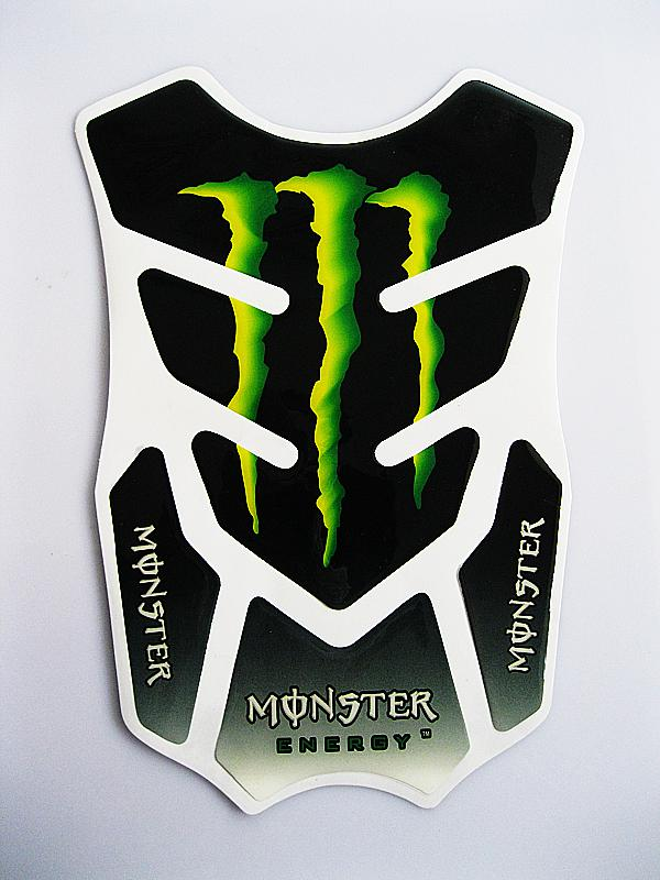 New Green Flames Motorcycle Bike Stickers Carbon Fiber Gas Tank