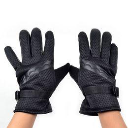 Мотоциклетные перчатки байкер онлайн-Fashion Men Winter Skidproof Driving Motorcycle Biker Full Finger Warm Gloves hv5n