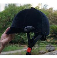 capacetes de equitação pretos venda por atacado-Frete grátis! Ajustável equitação cavalo capacete equestre preto capacete equitação chapéus de cavalo cap pode como um presente enviar amigo