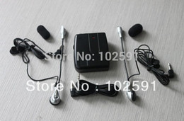 Wholesale Walkie Talkies Black - Hot selling one full set Couples walkie talkie Wired Helmet headphone Freely Talking Wired earphone high quality