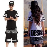 Wholesale Pyrex Long Sleeve - summer style mens t shirts DGK tshirt men 2015 bandana t-shirt skateboard pyrex extended Hip hop zipper hba swag t shirt
