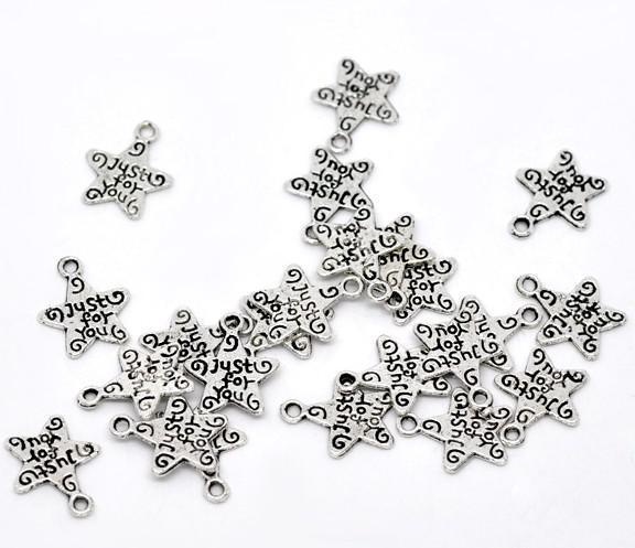 100 stks Tibetaanse zilveren toon alleen voor jou
