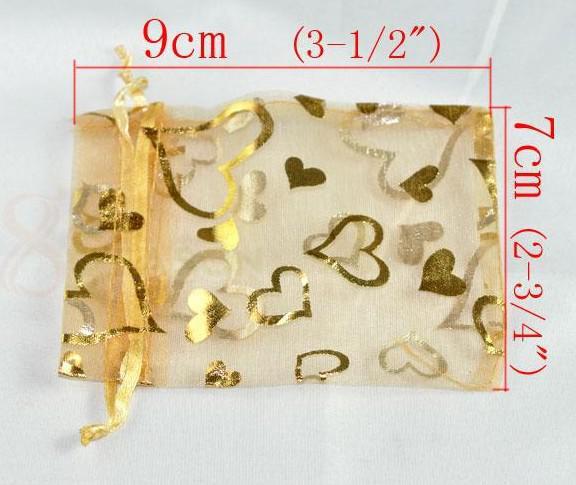 1500 sztuk Mieszany Organza Ślubny prezent Bagspouches 9x7cm