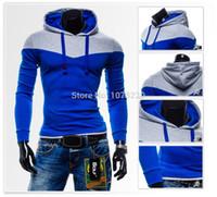 erkekler seksi hoodie toptan satış-2015 Bahar Moda Mens Tişörtü Spor Hoodies Dikiş Tasarım Hip Hop Erkekler Seksi Eşofman Adam Polar Hoody Artı Boyutu 4XL