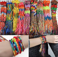 Wholesale Braid Friendship Cords - Fashion Design Mix Lots 108Pcs Braid Friendship Cords Strands Bracelets Bulk Leather Bracelet Free Ship