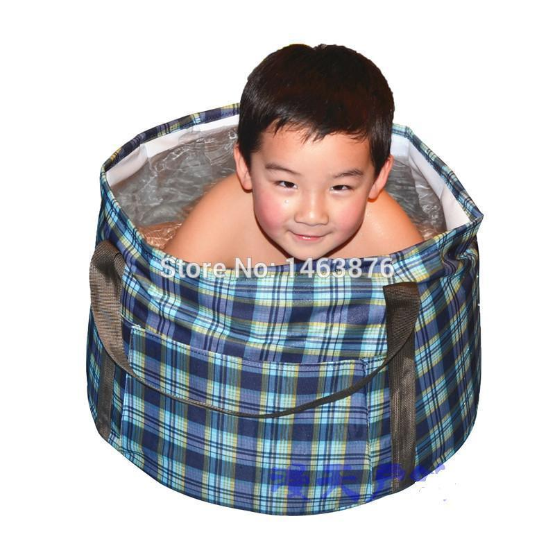 2018 Water Carrier Children Wash Tub Shower Bath Folding Portable ...