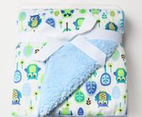 bebek battaniye peluş toptan satış-Toptan-Yüksek kaliteli peluş bebek battaniye yenidoğan kundak şal Süper Yumuşak bebek şekerleme battaniye hayvan manta cobertor alma