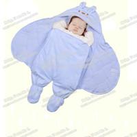 Wholesale Fleece Baby Quilt - Wholesale-Baby Blanket newborn Coral fleece infantil cobertor animal style bebe envelopes swaddle aden anais baby Wrap manta sleepping bag