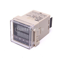 Wholesale Digital Display Time Relay - Free Shipping 10 Terminals Digital Double Row LED Display Time Relay Counter