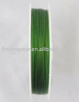 Gros-FREE SHIPPING 1ROLL 100 M Green Tiger Tail perlage fil 0.45mm M1227