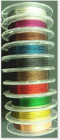 Wholesale Beading Tiger Cord - Wholesale-10 Rolls x 10M 0.3mm Colored Copper Tiger Tail Beading Wire  Cord  String Thread DIY Jewelly Findings AE00443