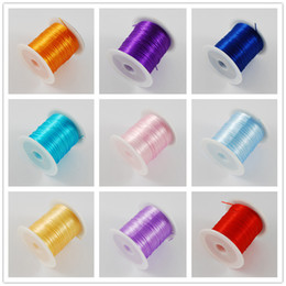 Wholesale-Jewelry components color 10M roll 1mm Stretch Elastic Beading Wire String Jewelry Wire DIY Wires for bracelet Necklace making Coupon