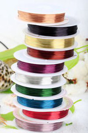 Wholesale Beading Tiger Cord - Wholesale-Freeshipping 5pc lot Mixed color Copper Tiger Tail Beading Wire Cord Finding a2212