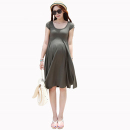 Wholesale Top Dress For Pregnant - Spring Summer Style Maternity Dresses 2015 Causal Model Maternity Clothes Slim Plus Size Vestidos Summer Dress For Pregnant Top