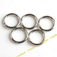 Wholesale Copper 8mm Jump - 1000pcs Key Ring Chains Key Chain Rings Copper Open Jump Rings Loop Findings 8mm 160314