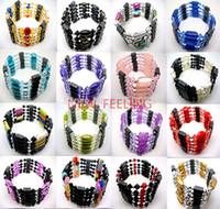 Wholesale Necklace Hematite - Wholesale-10pcs Women's Magnetic Genuine Hematite Necklace,Hematite Bracelet,Hematite Ankle
