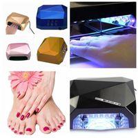 Wholesale Led Lamp For Gel Color - Nail Lamp Nail Dryer Diamond Shaped Long Life 36W LED CCFL Curing for UV Gel Nail Polish Multi Color
