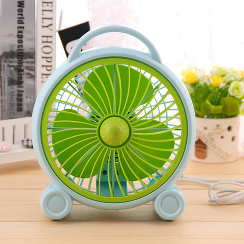 Wholesale Modern Simple Mini Table Fan Rotary Vane Second Gear Electric  Table Fan Dormitory Office Small Green ABS Ventilador