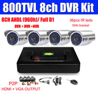 8CH Sistema CCTV 800TVL CCTV Camera Kit DVR 8CH AHDL (960H) Full D1 DVR 1080P HDMI Output System Security Camera Mobile PC Vista