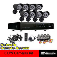 Wholesale Security System Lead Boxes - Home 8CH D1 CCTV DVR Day Night Weatherproof Security 480TVL 24pcs LED Camera Surveillance Video System Kit DIY CCTV System