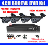 Camera 4CH sistema CCTV 800TVL DVR Kit di sicurezza del sistema 4CH AHDL (960H) / Full USCITA D1 DVR 1080P HDMI vista Android Phone iphone
