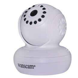 Wholesale Ip Camera Wireless Internet Card - Hot IR Cut Wireless Wired Wi-Fi Night Vision Rotate Pan Tilt Dual Audio White Webcam Internet IP camera Support TF MicroSD Card