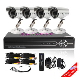 Wholesale Low Price Cctv Systems - Ultra Low Price 4CH Standalone CCTV DVR System Kit H. 264 4 Outdoor Waterproof Color Security Cameras
