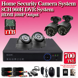 Wholesale Night Dvr System Hdd - home 8ch Security Outdoor waterproof day Night Camera,8 channel cctv DVR recorder video security System kit,HDMI 1080P,HDD