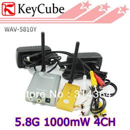 Wholesale Wireless Receiver For Video Camera - 1W 5.8G Wieless AV Sender,5.8G 1000mW Wireless Video Audio Transmitter Receiver For Transmitting CCTV Camera