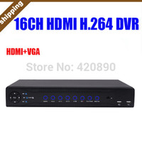 Wholesale Standalone Dvr 16 Channel - Free Shipping 16 Channel DVR H.264 Standalone CCTV DVR Recorder,Mobile Phone Android Security DVR 16CH