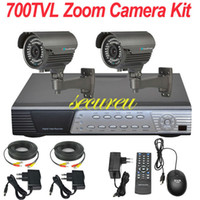 Wholesale Best Digital Surveillance System - Cheap best 2ch cctv kits security thermal system 700TVL zoom lens cctv surveillance equipment 4ch HD DVR digital video recorder
