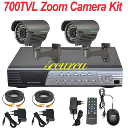 Wholesale Best Digital Surveillance System - Cheap best 2ch cctv kits security thermal system 700TVL zoom lens cctv surveillance equipment 4ch HD DVR digital video recorder