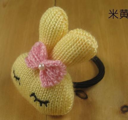 슈퍼 패션 헤어 서클 귀여운 Metoo 토끼 나비 매듭 양모 헤어 로프 여성의 여러 가지 빛깔의 연습장