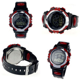 Wholesale Led Colour Watches - Wholesale-Free shipping 5 colours Waterproof Electronic digital Watch men watch Boys high quality leisure style LED Sports watches #YQ409