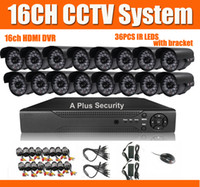 16CH CCTV-Systems-DVR Installationssatz 16pcs 480TVL Minikameras 36pcs IR LED 16CH DVR HDMI Handy Alle Enthaltene Kabel