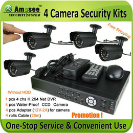 Wholesale Security Dvr Ccd Camera System - Promotion ! 4 Camera CCD security DVR System Internet Andriod remote view Home security camera kit CCTV