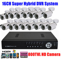 ONVIF CCTV-Sicherheits-1080P HDMI Hybrid Super 16CH DVR Recorder 800tvl HD Outdoor-IR-Kamera-System Set-Kits, 3G WIFI Audio-Alarm