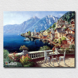 hanging pictures 2018 - Beautiful scenery picture oil painting reproduction on canvas prints Landscape printing art hang on the room wall