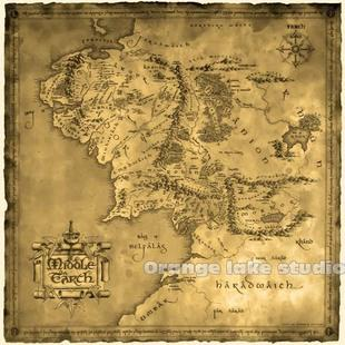 Lord Of The Rings Online World Map.The Lord Of The Rings Middle Earth Map Canvas Painting Square Poster