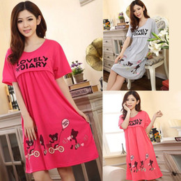 Wholesale Cute Maternity Clothing - Pregnant Women Cute Bear Lactation Nursing Clothes Maternity Dresses FreeShipping