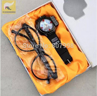 Wholesale Conan Watch - Wholesale-Free ship,Children's Detective Conan watch w zoom and laser function,Random Cartoon Characters Watch + Glasses  Eyegrass + Box