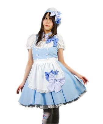 2015 New Arrive Alice In Wonderland Costume For Women Sexy French Maid Costume Uniforms Blue Girl Servant Cosplay Cosplay Custome Homemade Anime Costumes ...  sc 1 st  DHgate.com & 2015 New Arrive Alice In Wonderland Costume For Women Sexy French ...