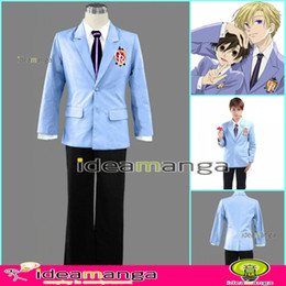 Wholesale Host Club Cosplay - Cosplay Ouran High School Host Club Tamaki Suou Hikaru Hitachiin boy's Cosplay Costume School uniforms male halloween Christmas