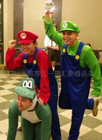 Wholesale Mario Play Game - Party , halloween dress , Adult mario cos play clothes free shipping